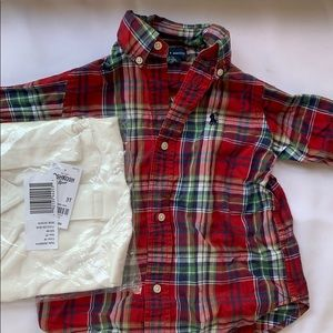 Ralph Lauren button down & NWT polo